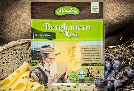 Bergbauern Käse mild <br/> in Scheiben