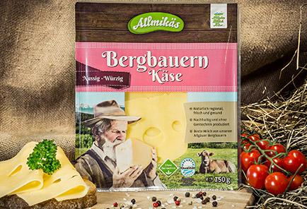 Bergbauern Käse würzig <br/>  in Scheiben