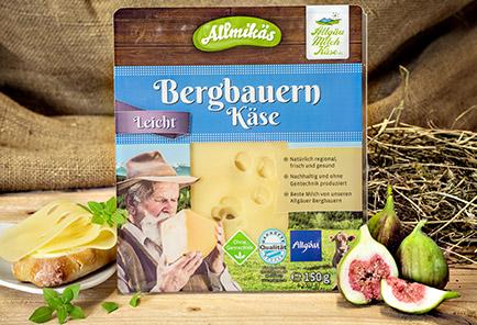 Bergbauern Käse leicht <br/>  in Scheiben