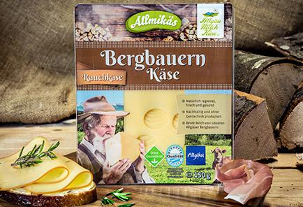Bergbauern Rauchkäse <br/>  in Scheiben