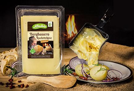 Bergbauern Raclettekäse <br/> in Scheiben