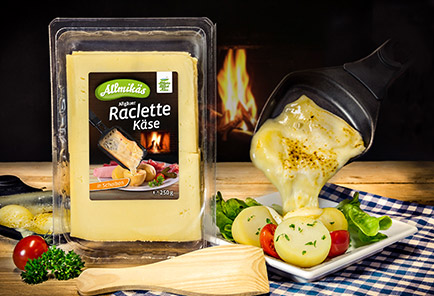 Allgäuer Raclette Käse <br/> in Scheiben