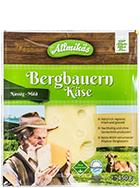 Bergbauern Käse mild in Scheiben