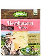 Bergbauern Käse würzig in Scheiben